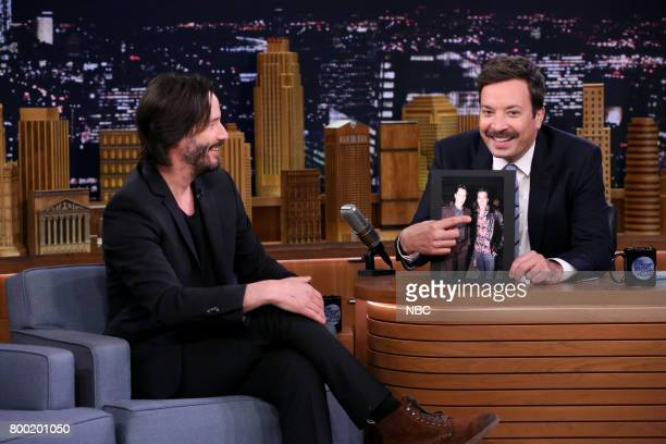 Actor Keanu Reeves during an interview with host Jimmy Fallon on June 23 2017