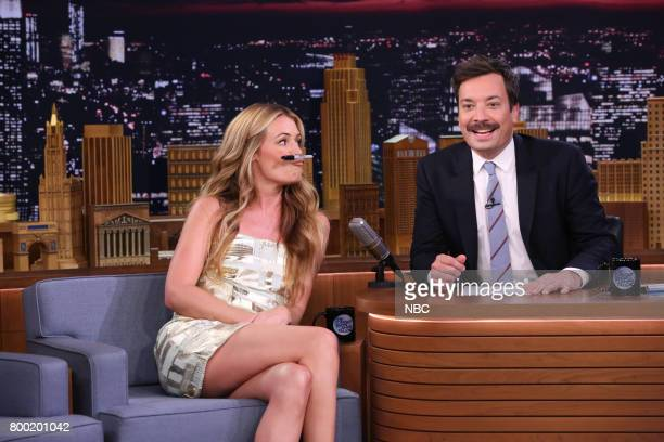 Television Personality Cat Deeley during an interview with host Jimmy Fallon on June 23 2017