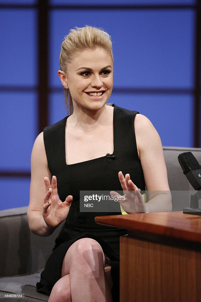 Actress <a gi-track='captionPersonalityLinkClicked' href=/galleries/search?phrase=Anna+Paquin&family=editorial&specificpeople=211602 ng-click='$event.stopPropagation()'>Anna Paquin</a> during an interview on July 15, 2014 --