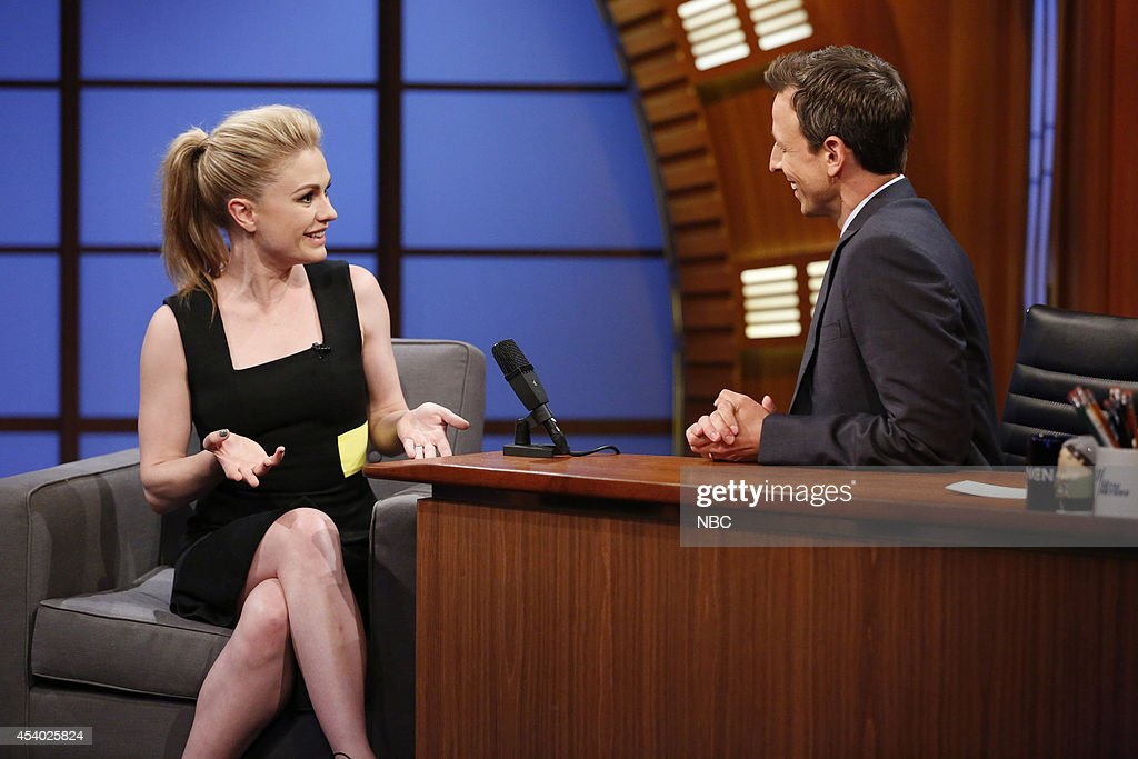 Actress Anna Paquin during an interview with host Seth Meyers on July 15, 2014 --