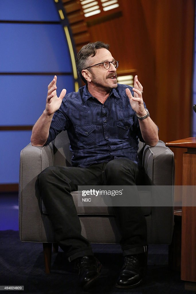 Comedian <a gi-track='captionPersonalityLinkClicked' href=/galleries/search?phrase=Marc+Maron&family=editorial&specificpeople=236022 ng-click='$event.stopPropagation()'>Marc Maron</a> during an interview on July 15, 2014 --