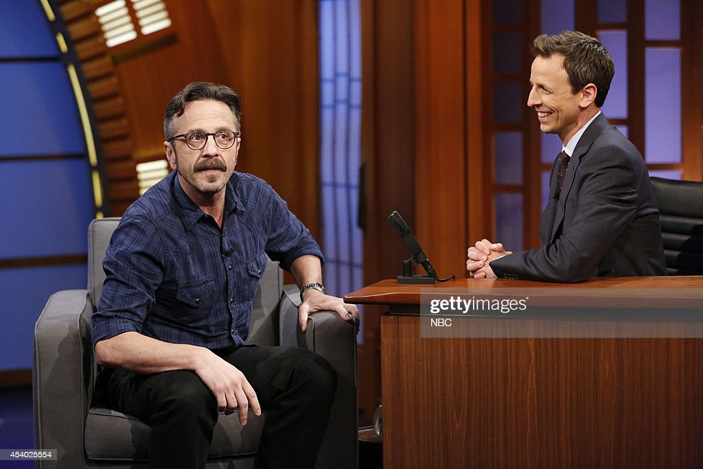 Comedian Marc Maron during an interview with host Seth Meyers on July 15, 2014 --
