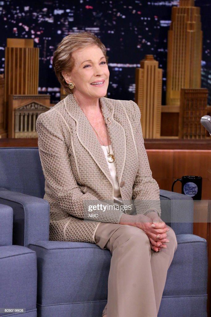 Singer/Actor Julie Andrews during an interview on June 30, 2017 --