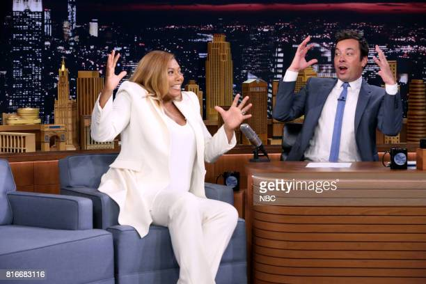 Actress/Comedian Queen Latifah during an interview with host Jimmy Fallon on July 17 2017
