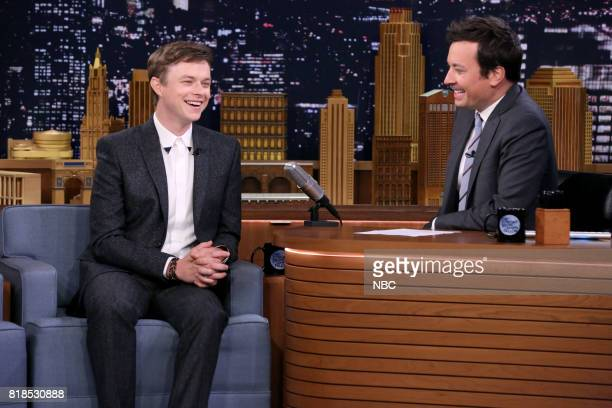 Actor Dane DeHaan during an interview with host Jimmy Fallon on July 18 2017