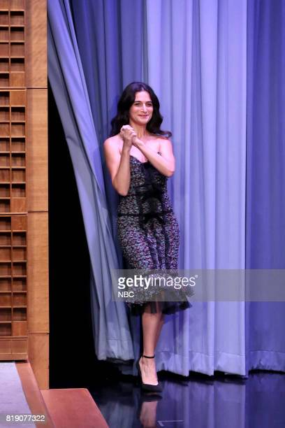 Comedian/Actress Jenny Slate arrives for an interview on July 19 2017