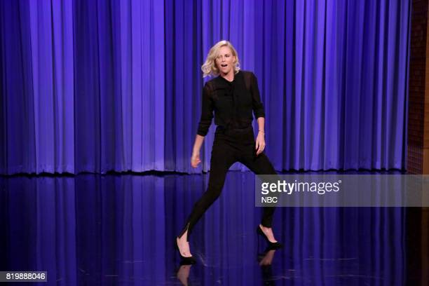 Actress Charlize Theron during 'Dance Battle' on July 20 2017