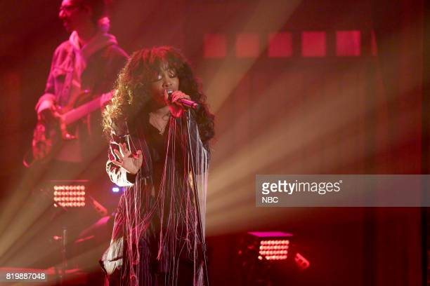 Musical Guest SZA performs on July 20 2017