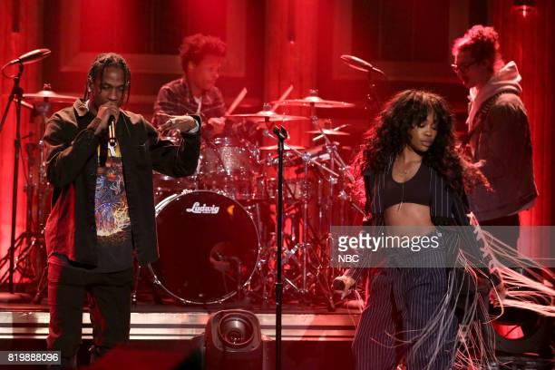 Musical Guests Travis Scott performs with SZA on July 20 2017