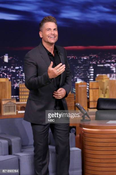 Actor Rob Lowe arrives for an interview on July 24 2017