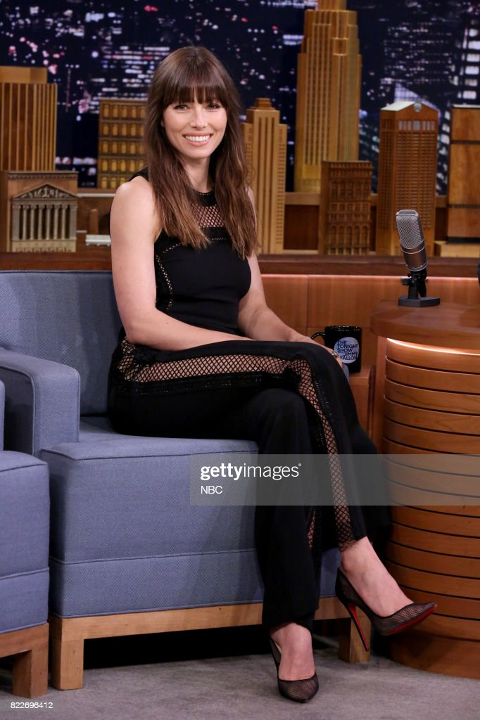 Actress Jessica Biel during an interview on July 25, 2017 --