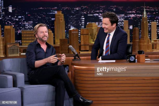 Comedian/Actor David Spade during an interview with host Jimmy Fallon on July 28 2017