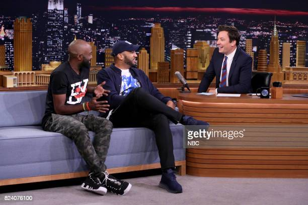 Desus Mero during an interview with host Jimmy Fallon on July 28 2017
