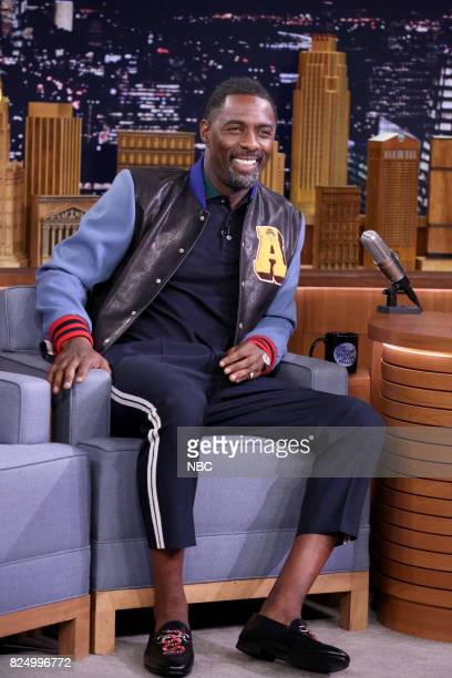 Actor Idris Elba during an interview on July 31 2017