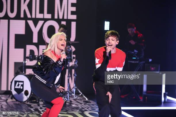 Musical Guest Louis Tomlinson Ft Bebe Rexha and Digital Farm Animals performs 'Back to You' on August 4 2017