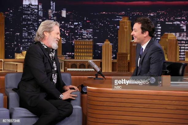 Actor Jeff Bridges during an interview with host Jimmy Fallon on August 7 2017