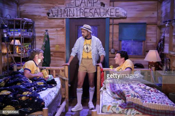 Justin Timberlake KeeganMichael Key and Jimmy Fallon during 'Camp Winnipesaukee' on August 8 2017