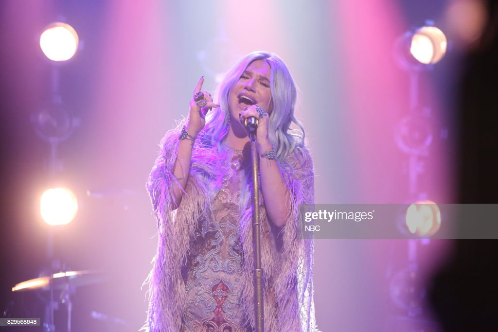 Musical Guest Kesha performs 'Praying' on August 10, 2017 --