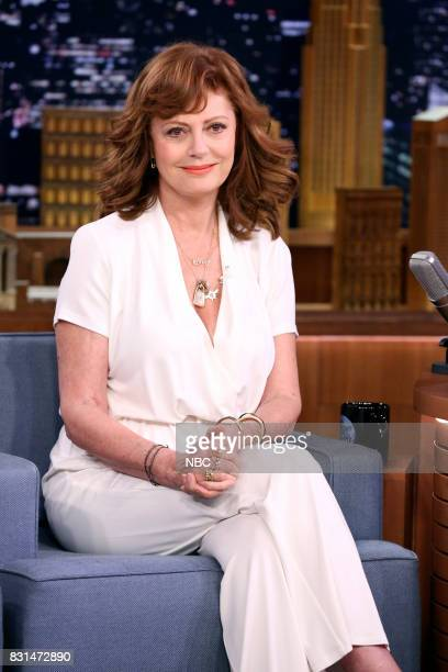 Actress Susan Sarandon during an interview August 14 2017