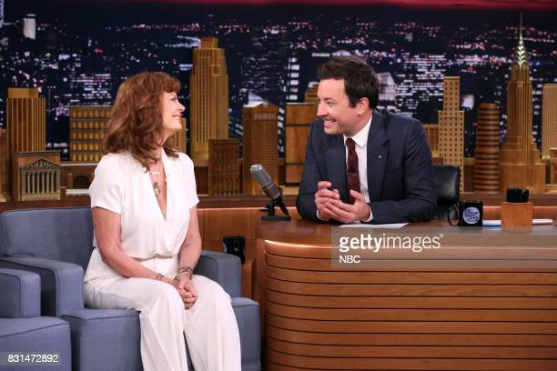 Actress Susan Sarandon during an interview with host Jimmy Fallon on August 14 2017