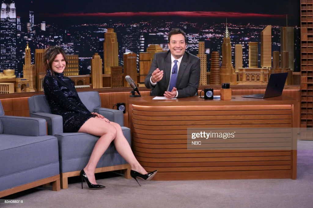 Actress Kathryn Hahn during an interview with host Jimmy Fallon on August 17, 2017 --