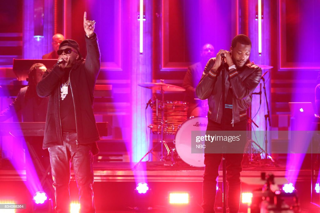 The-Dream and Meek Mill perform 'Young Black America' on August 17, 2017 --