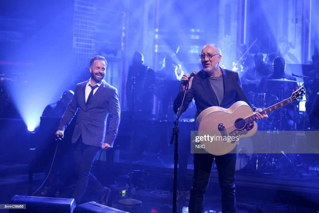 Alfie Boe and Pete Townshend perform 'Love Reign O'er Me' on September 8, 2017 --