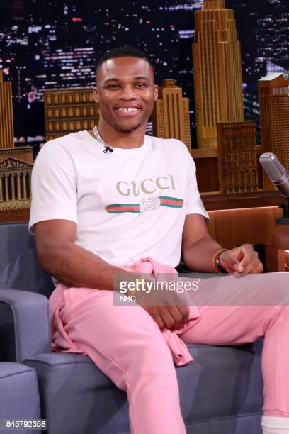 NBA player Russell Westbrook on September 11 2017