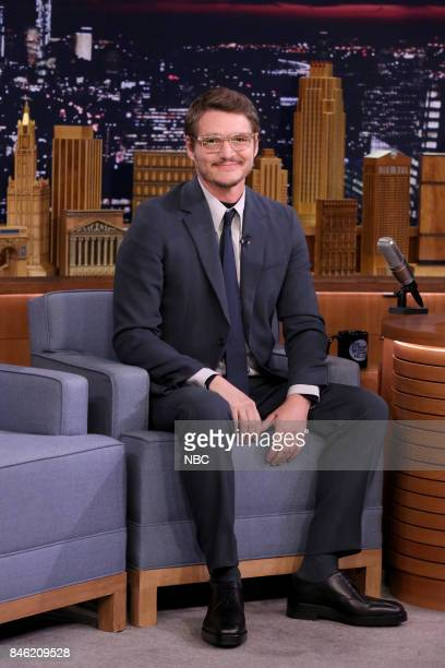Actor Pedro Pascal during an interview on September 12 2017