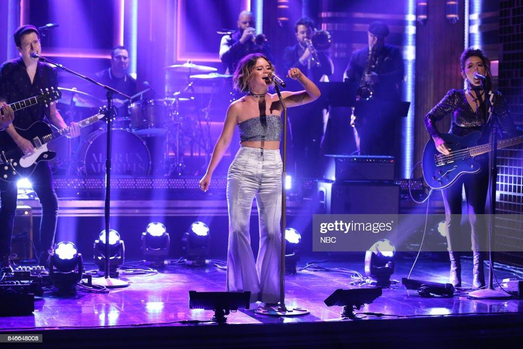 Musical Guest Maren Morris performs 'Rich' on September 13, 2017 --