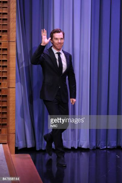 Actor Benedict Cumberbatch arrives for an interview on September 15 2017