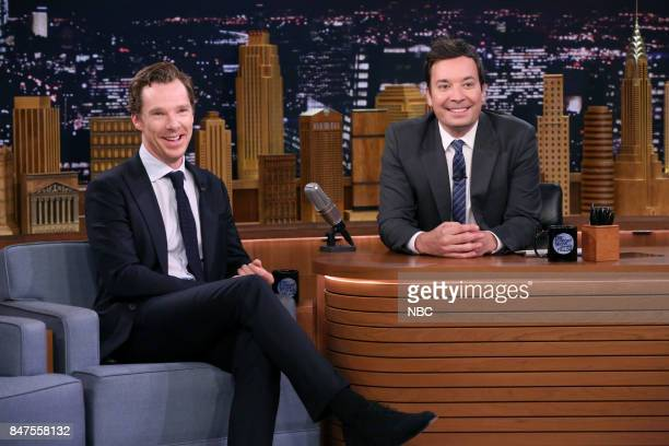 Actor Benedict Cumberbatch during an interview with host Jimmy Fallon on September 15 2017