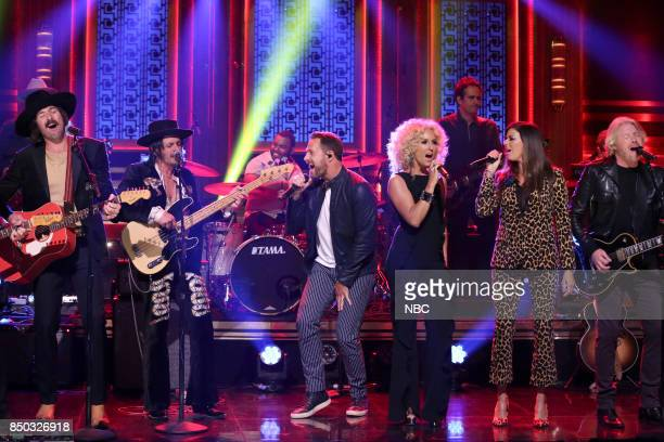 Musical guests Midland Little Big Town perform 'Drinkin' Problem/Merry Go Round/Don't Bring Me Down' on September 20 2017