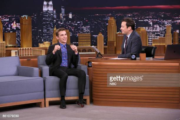 Actor Dave Franco during an interview with host Jimmy Fallon on September 21 2017