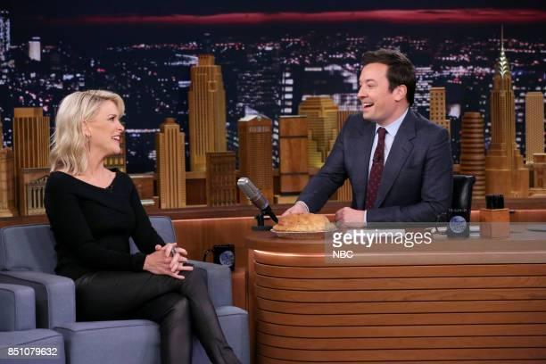 Journalist Megyn Kelly with host Jimmy Fallon on September 21 2017