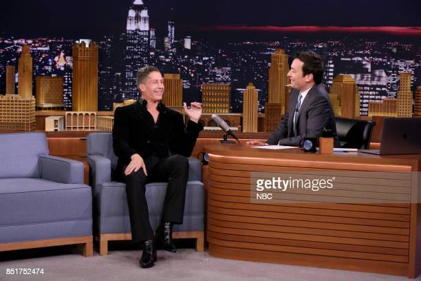 Bruce Bozzi Jr during an interview with host Jimmy Fallon on September 22 2017