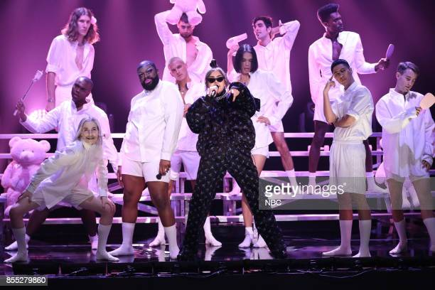 Musical Guest Charli XCX performs 'Boys' on September 28 2017