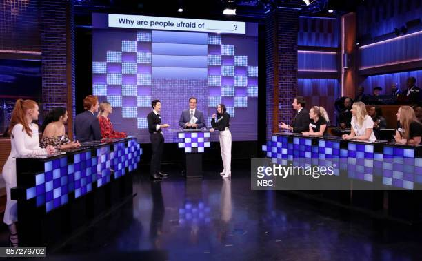 From the cast of 'Riverdale' Madelaine Petsch Camila Mendes KJ Apa Lili Reinhart Cole Sprouse Steve Higgins Noah Cyrus host Jimmy Fallon and the...
