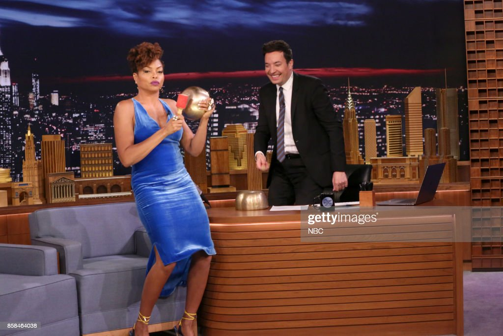 Actress Taraji P. Henson during an interview with host Jimmy Fallon on October 6, 2017 --