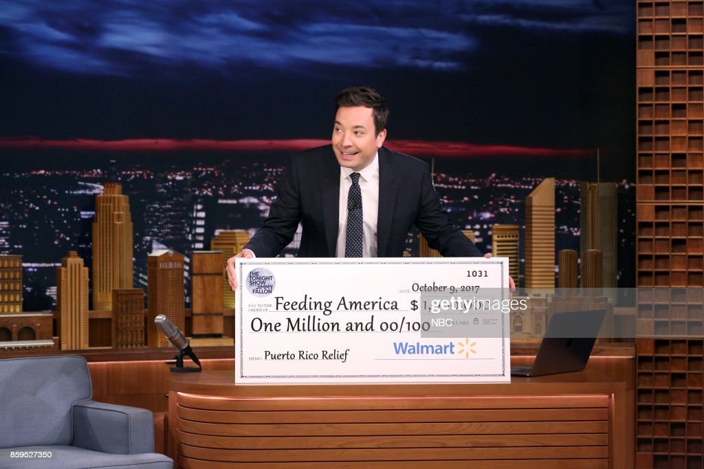Host Jimmy Fallon during the opening monologue on October 9, 2017 --