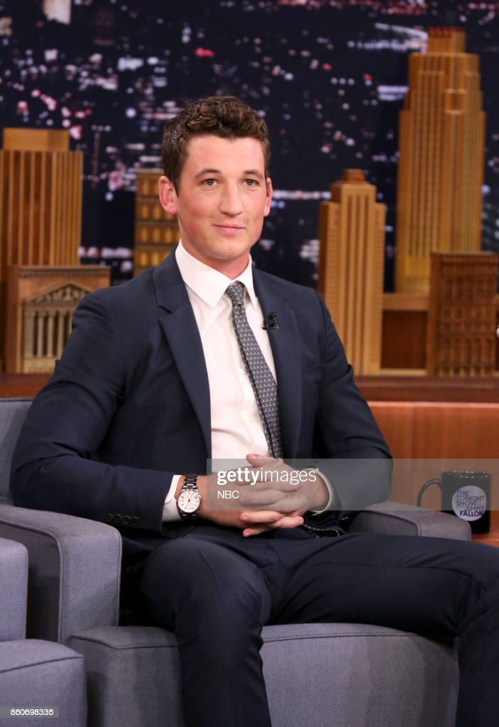Actor Miles Teller during an interview on October 12, 2017 --