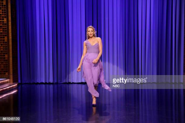 Actress Blake Lively during 'Dance Battle' on October 13 2017