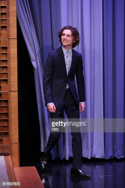 Actor Timothée Chalamet arrives for interview on November 17 2017