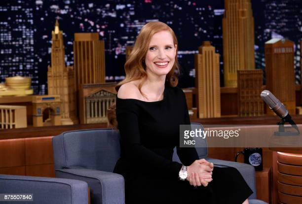 Actress Jessica Chastain during an interview on November 17 2017