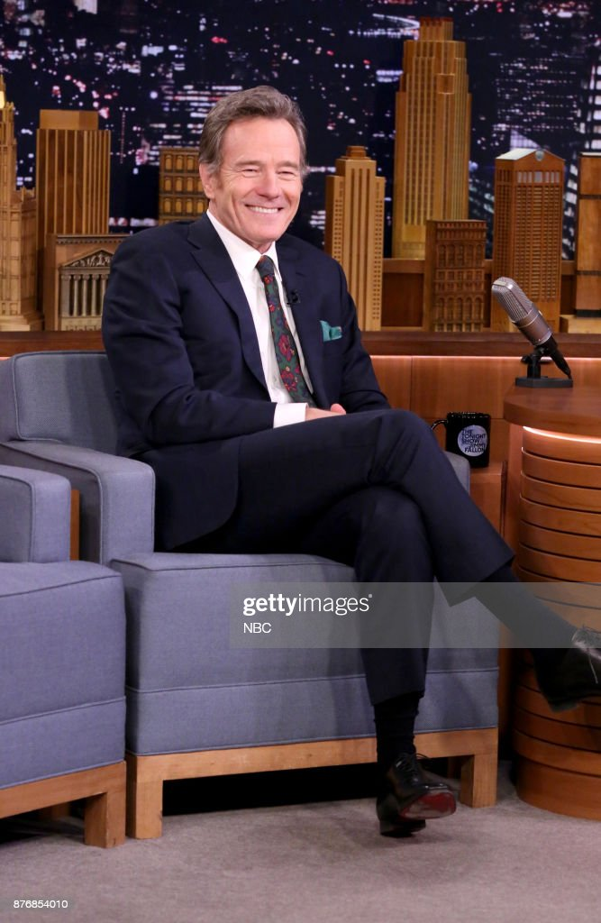 Actor Bryan Cranston during an interview on November 20, 2017 --
