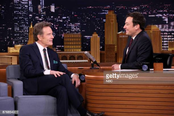Actor Bryan Cranston during an interview with host Jimmy Fallon on November 20 2017