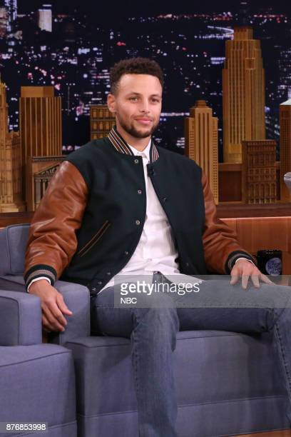 Athlete Stephen Curry during an interview on November 20 2017