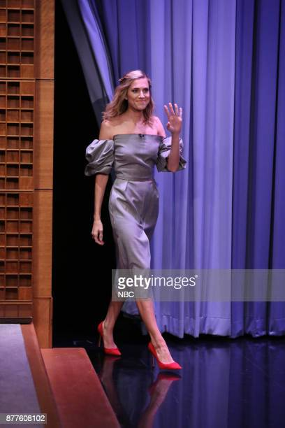 Actress Allison Williams arrives for an interview on November 22 2017