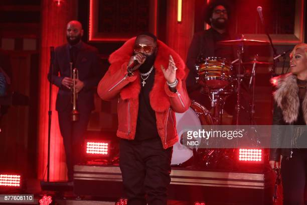 Rick Ross performs 'Heads Up Eyes Open' on November 22 2017