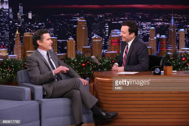 Actor Billy Crudup during an interview with host Jimmy Fallon on December 11 2017